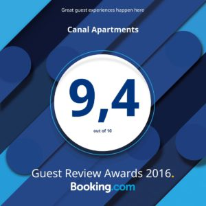Canal Apartments Guest Review Award 2016 (1200 x 1200)