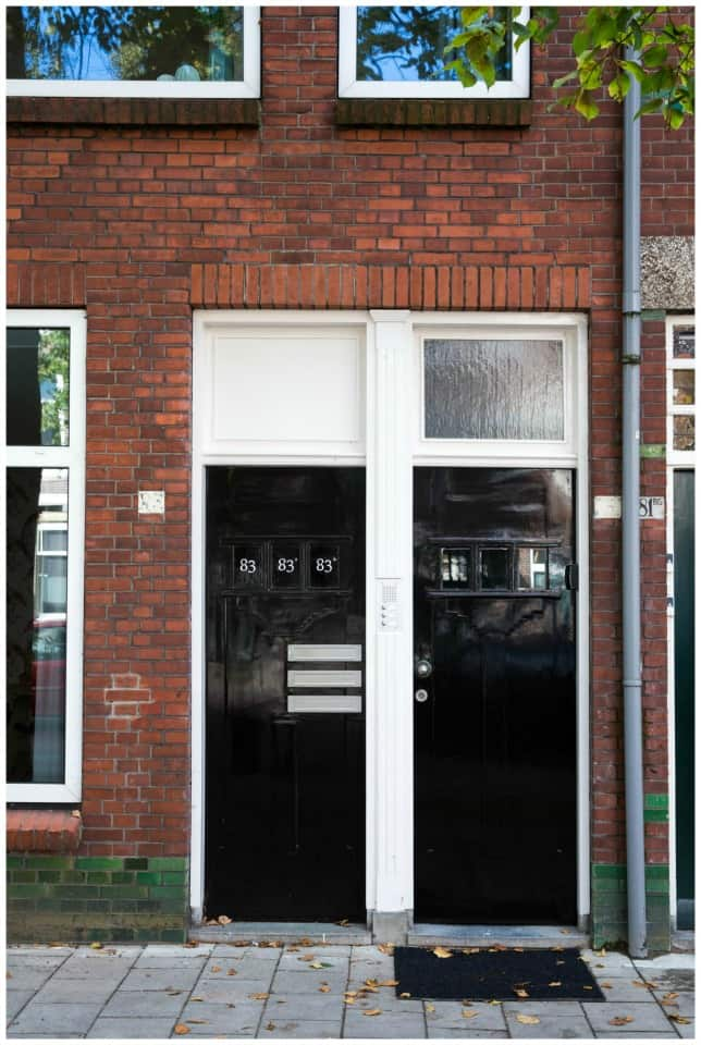University Apartment Utrecht Front Door H C A